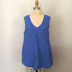 Flax linen sleeveless blouse